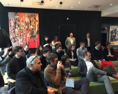 The citizenM Hotel, showing the winners of the EeStairs Design Competition, the jury and Cluistra.