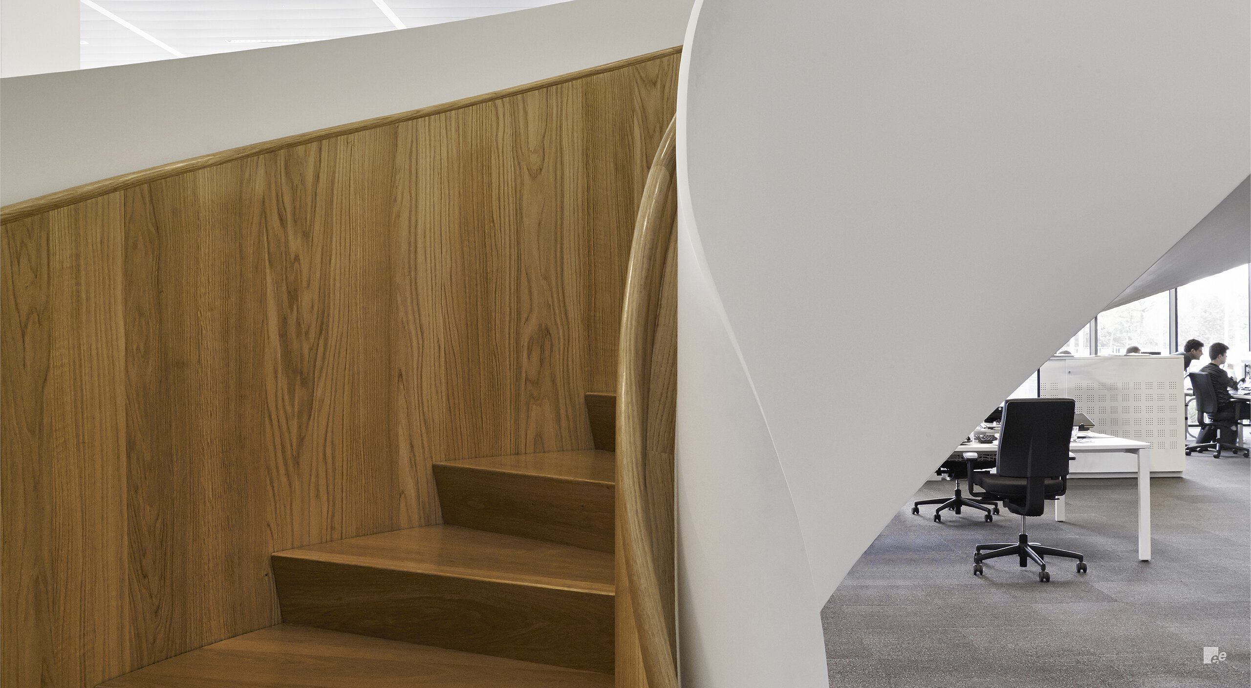 Curved modern staircase