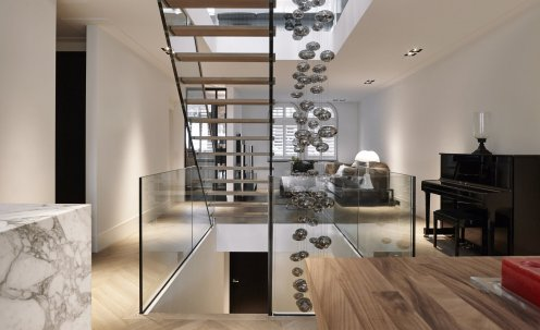 Residential open staircase design