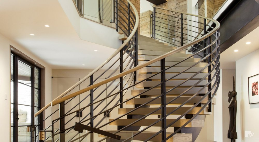 eyecatching curved staircase design