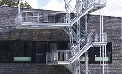 Eyecatching metal stairs