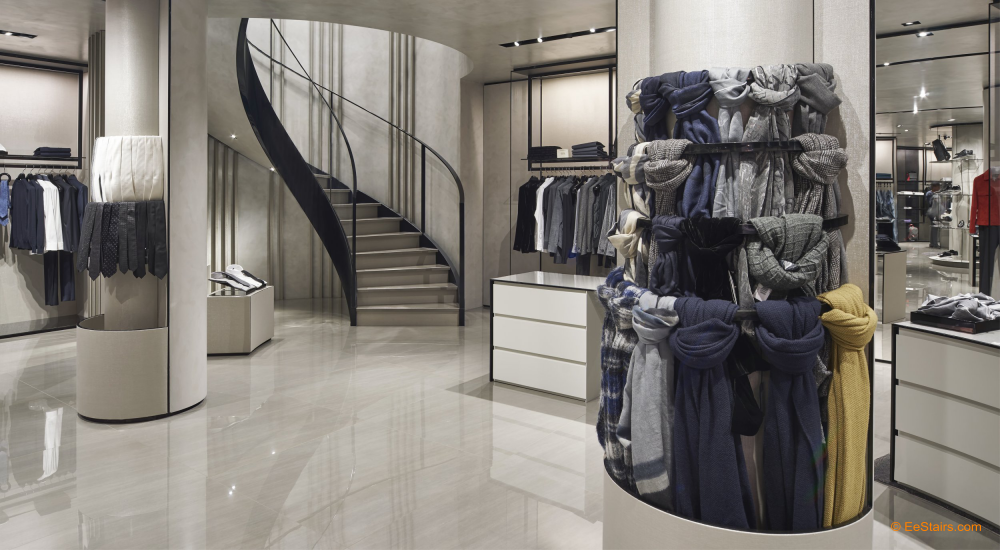 Bespoke staircase for Armani